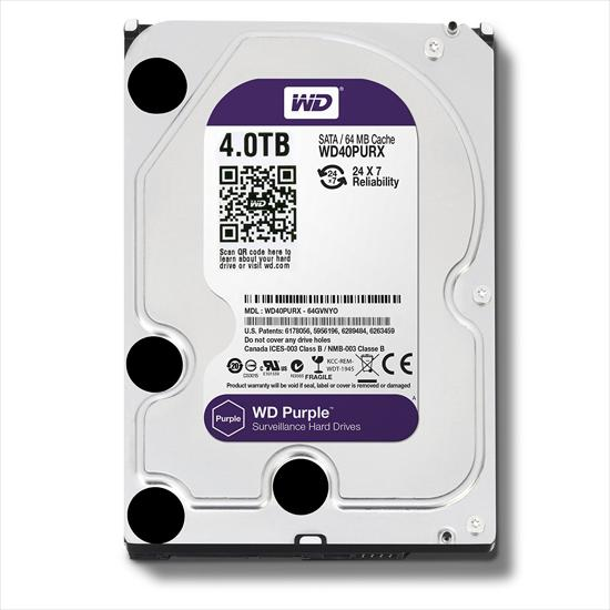 Picture of WD  HDD 4 TB - WD PURPLE SURVEILLANCE HARD DRIVE